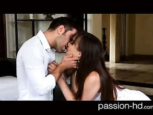 Exciting sexy shaped brunette pleasures awesome hardcore fuck