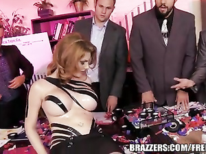 Busty Lilith Lust hardcore office break