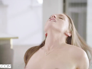 Beautiful girlfriends Tori Black and Caprice are lying on top of each other and getting fucked