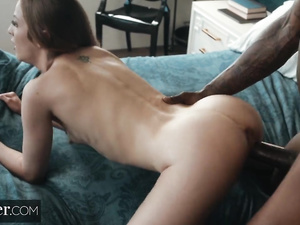 Wonderful Karla Kush is being fucked by black fucker and cuckolding bald hubby